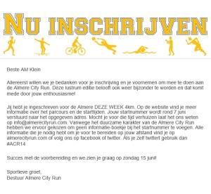 hardlopen, Almere City Run