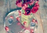 lente decoratie, tulpen
